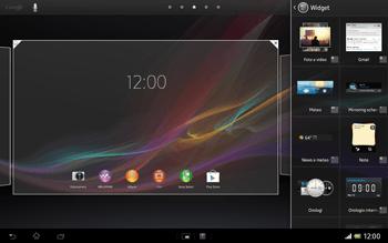 Sony Xperia Tablet Z LTE - Operazioni iniziali - Installazione di widget e applicazioni nella schermata iniziale - Fase 4