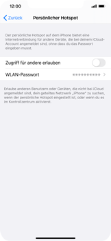 Apple iPhone 11 - iOS 14 - WiFi - So aktivieren Sie einen WLAN-Hotspot - Schritt 4