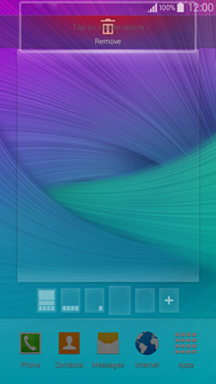 Samsung Galaxy Note 4 - Getting started - Installing widgets and applications on your start screen - Step 8