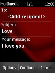Nokia Asha 300 - MMS - Sending pictures - Step 13