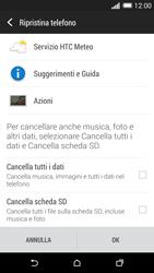 HTC One M8 - Dispositivo - Ripristino delle impostazioni originali - Fase 7