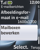 Nokia 2330 classic - e-mail - handmatig instellen - stap 6