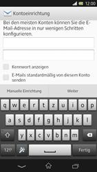 Sony Xperia Z - E-Mail - Konto einrichten - Schritt 6