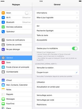 Apple iPad Air - Internet et roaming de données - Désactivation du roaming de données - Étape 3