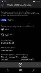Microsoft Lumia 650 - Internet et connexion - Partager votre connexion en Wi-Fi - Étape 9
