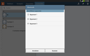 Samsung P5220 Galaxy Tab 3 10-1 LTE - Contacten en data - Contacten overzetten via Bluetooth - Stap 11