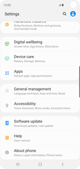 Samsung Galaxy S10 - Mobile phone - Resetting to factory settings - Step 4