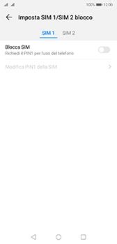 Huawei P20 - Android Pie - Operazioni iniziali - Come abilitare il pin della SIM - Fase 7