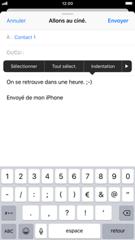 Apple iPhone 8 Plus - iOS 12 - E-mail - envoyer un e-mail - Étape 8