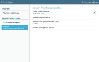 Samsung Galaxy Tab4 10.1 4G (SM-T535) - E-mail - Instellingen KPNMail controleren - Stap 8