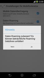 Sony Xperia Z1 Compact - Ausland - Im Ausland surfen – Datenroaming - 9 / 12