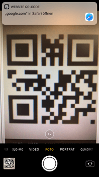 Apple iPhone 6 Plus - iOS 11 - Kamera – Sofort-QR-Code - 7 / 8