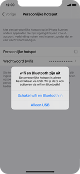 Apple iPhone X - iOS 13 - Internet - Stel mobiele hotspot in - Stap 7