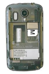 HTC A310e Explorer - SIM-Karte - Einlegen - Schritt 4