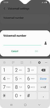 Samsung Galaxy A20e - Voicemail - Manual configuration - Step 10