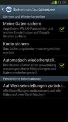 Samsung Galaxy S III LTE - Gerät - Zurücksetzen auf die Werkseinstellungen - Schritt 5