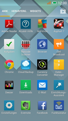 Alcatel One Touch Idol Mini - Startanleitung - Installieren von Widgets und Apps auf der Startseite - Schritt 3