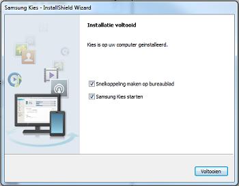 Samsung S5830 Galaxy Ace Software update en synchroniseren PC software