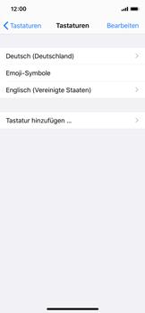 Apple iPhone 11 Pro - Startanleitung - So fügen Sie eine Tastatursprache hinzu - Schritt 8