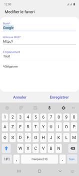 Samsung Galaxy Note 10 Lite - Internet et connexion - Naviguer sur internet - Étape 10