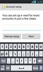 LG P700 Optimus L7 - E-mail - Manual configuration - Step 7