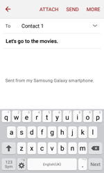 Samsung J120 Galaxy J1 (2016) - E-mail - Sending emails - Step 9