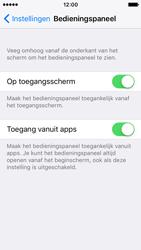 Apple iPhone SE - iOS 10 - iOS features - Bedieningspaneel - Stap 4