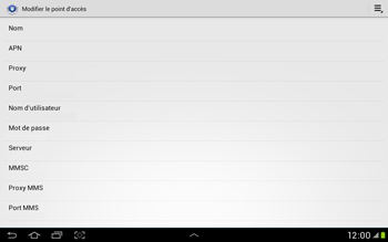 Samsung Galaxy Tab 2 10.1 - Internet et roaming de données - Configuration manuelle - Étape 12