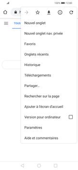Huawei P Smart 2020 - Internet et connexion - Naviguer sur internet - Étape 8