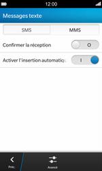 BlackBerry Z10 - SMS - configuration manuelle - Étape 6