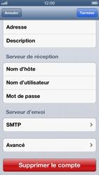 Apple iPhone 5 - E-mail - Configuration manuelle - Étape 18