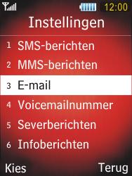 Samsung S5550 Chester - E-mail - handmatig instellen - Stap 5