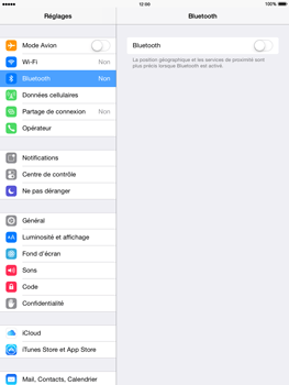 Apple iPad Mini 2 iOS 8 - Bluetooth - connexion Bluetooth - Étape 6