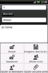 HTC A6262 Hero - E-mail - Envoi d