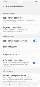 Samsung Galaxy A40 - Data - Maak een back-up met je account - Stap 7