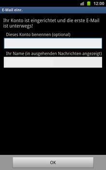 Samsung Galaxy Note - E-Mail - Konto einrichten - 2 / 2