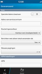 BlackBerry Z30 - sms - handmatig instellen - stap 10