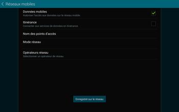 Samsung T805 Galaxy Tab S - Réseau - Sélection manuelle du réseau - Étape 11