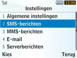 Samsung S3350 Chat 335 - SMS - Handmatig instellen - Stap 5