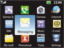 LG C360 Golf - Voicemail - Manual configuration - Step 3