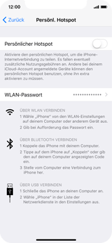 Apple iPhone X - Internet - Mobilen WLAN-Hotspot einrichten - 2 / 2