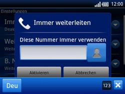 Sony Ericsson Xperia X10 Mini Pro - Anrufe - Rufumleitungen setzen und löschen - Schritt 7