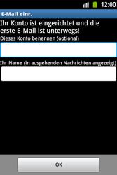 Samsung Galaxy Ace - E-Mail - Konto einrichten - 1 / 1