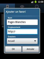 Samsung S5300 Galaxy Pocket - Internet - navigation sur Internet - Étape 8