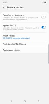 Samsung Galaxy Note 10 Plus 5G - Réseau - Comment activer une connexion au réseau 5G - Étape 8