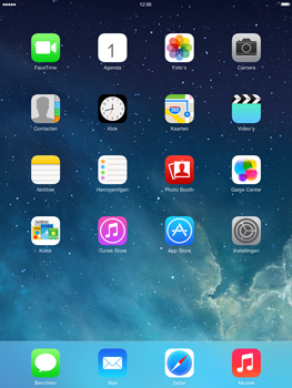 Apple iPad 2 iOS 7 - Internet - populaire sites - Stap 1