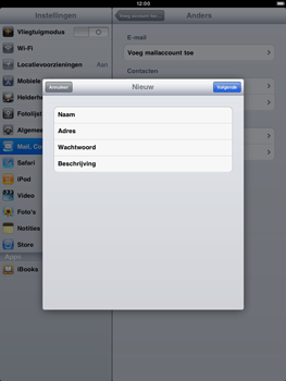 Apple iPad 2 - E-mail - handmatig instellen - Stap 6