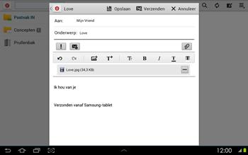 Samsung P5100 Galaxy Tab 2 10-1 - E-mail - Hoe te versturen - Stap 15