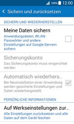 Samsung G360F Galaxy Core Prime - Fehlerbehebung - Handy zurücksetzen - Schritt 7