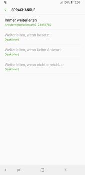 Samsung Galaxy Note9 - Anrufe - Rufumleitungen setzen und löschen - 13 / 14